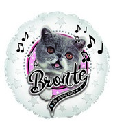 "9"" Bronte Singing Kitty Foil Balloon"