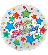 "24"" Happy B-Day Stars Foil Balloon"