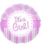 "18"" It's A Girl Foil Balloon"