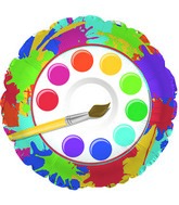 "18"" Art Prty Paint Palette Foil Balloon"