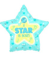 "18"" Star Is Born - Blue Foil Balloon"