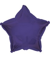 "7"" Purple Star Self Sealing Valve Foil Balloon"