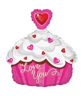 "12"" Airfill Only Love You Cupcake Mini Shape"