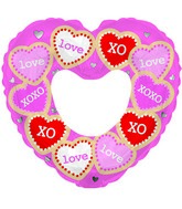 "14"" Airfill Only Love Messages Foil Balloon"