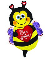 "10"" Airfill Only Happy Bee Mine Foil Balloon"