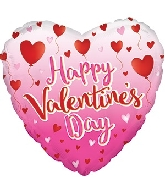 "18"" Happy Valentine&#39s Day Balloon Hearts Balloon"