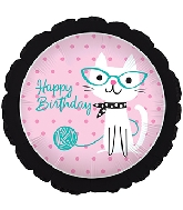 "18"" Purrrfect Party Happy Birthday Balloon"