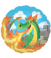 "18"" Dragon Breathing Fire Balloon"