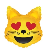 9 Airfill Only Emoticon Cat with Heart Eyes Balloon
