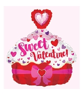 "12"" Airfill Only Sweet Valentine Cupcake Balloon"