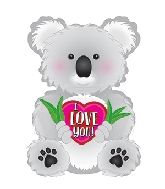 "12"" I Love You Koala Balloon"