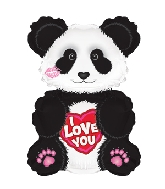 "12"" I Love You Panda Balloon"