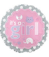 "17"" It&#39s A Girl Baby Icons Balloon"