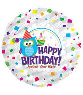 "17"" Happy Birthday Day Wise Owl Packaged"
