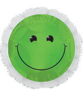 "17"" Green Smiley Balloon"
