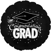 "18"" Congratulations Grad Black"
