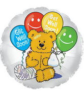"17"" Get Well Bear with Balloon"