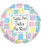 "18""Twins are Twice as Nice Pastel with Weight"