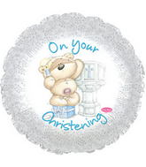 "17"" On Your Christening Boy Balloon Packaged"