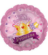 "31""Happy Birthday Day Princess Crown Gem"
