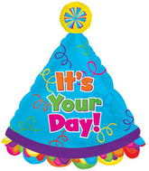 "30"" Its Your Day Party Hat Balloon"