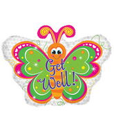 "22"" Get Well Butterfly Balloon"