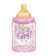 "33"" It&#39s A Girl Baby Bottle Shape-A-Loon Box102"