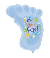 "38"" It&#39s A Boy Baby Foot Shape-A-Loon"