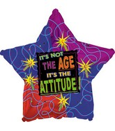 "17"" It&#39s Not the Age It&#39s the Attitude Star Packaged"