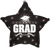 "18"" Congrats Grad Black Star"