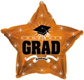 "18"" Congrats Grad Orange Star"