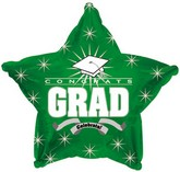 "18"" Congrats Grad Green Star"