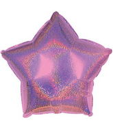 "9"" Pink Star Dazzeloon Balloon"
