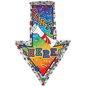 "29"" Party Here Arrow Balloon"