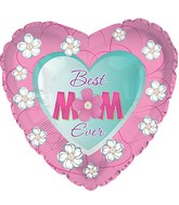 "17"" Floral Best Mom Ever Balloon"