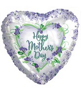 "17"" Happy Mother&#39s Day Violets and Greens Balloon"
