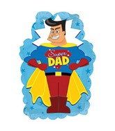 "9"" Airfill Only Super Dad Yellow Cape Mini-Shape Balloon"