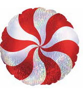"18"" Candy Peppermint Dazzeloon Balloon"