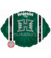 "18"" Collegiate Football University Of Hawaii"