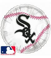 "9""  Airfill Baseball Chicago White Sox Balloon"