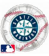 "9""  Airfill Baseball Seattle Mariners Baseball"