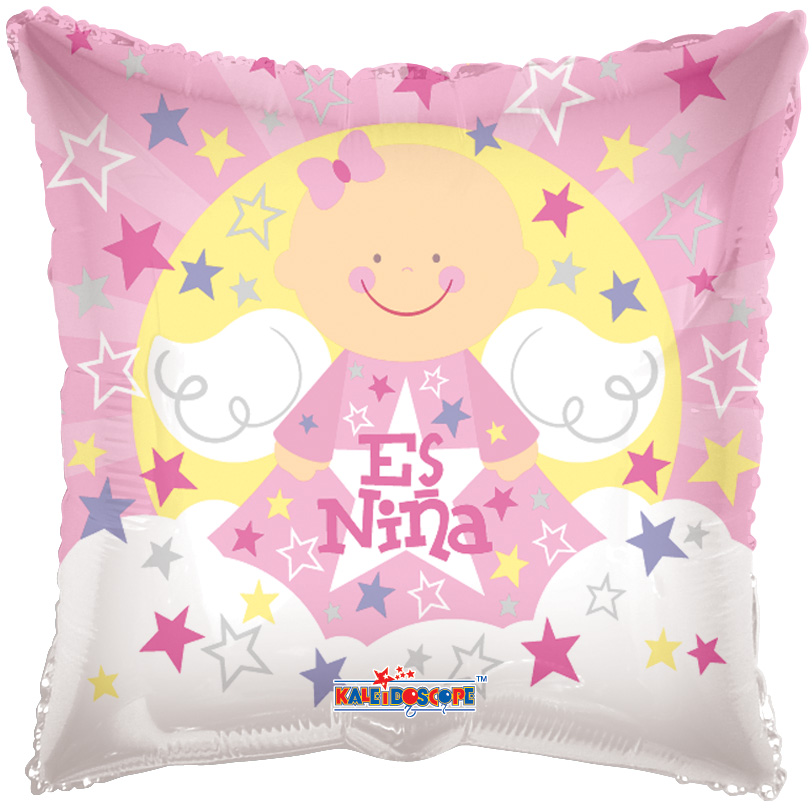 "4"" Airfill Only Angel Sobre Nubes Es Nina Balloon"