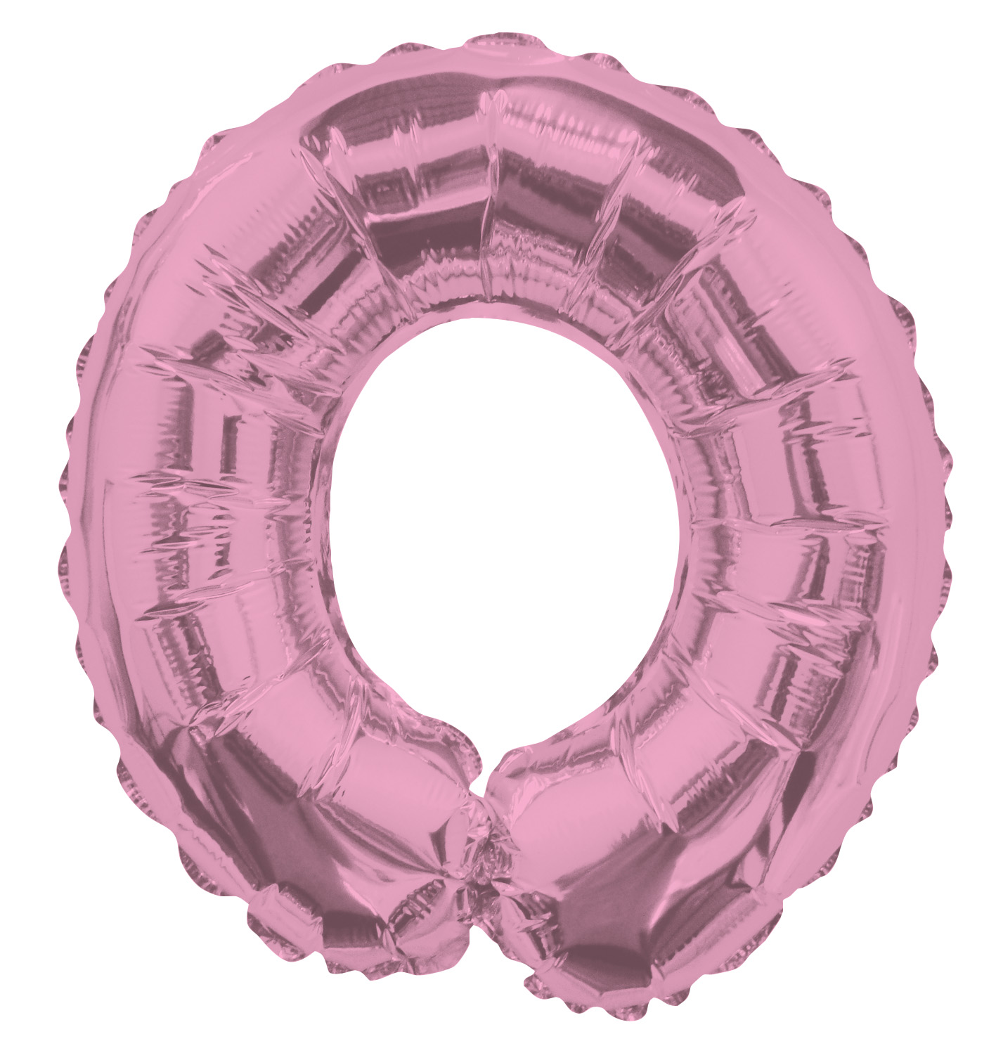 "14"" Airfill with Valve Only Letter O Pink Balloon"