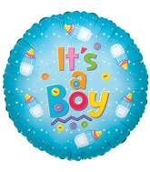 "18"" It&#39s A Boy Baby Bottle Balloon"