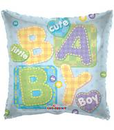"18"" Baby Boy Big Letters Balloon"