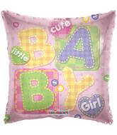 "18"" Baby Girl Big Letters Balloon"