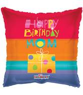 "18"" Happy Birthday Mom Gift Balloon"