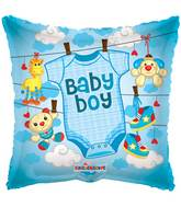 "18"" Baby Boy Baby Clothes Balloon"