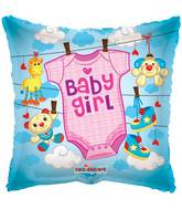 "18"" Baby Girl Baby Clothes Balloon"