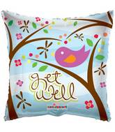 "18"" Get Well Contemporary Bird Balloon"